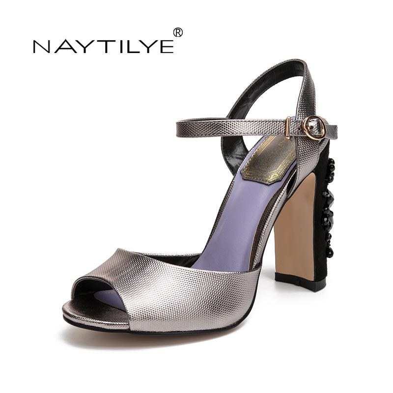 af77472ae0f6 New shoes NAYTILYE Summer Sandals Bling Rhinestone Flats Women Sandals High  heels Fashion Comfortable Shoes Woman Free shipping – glammyfashion